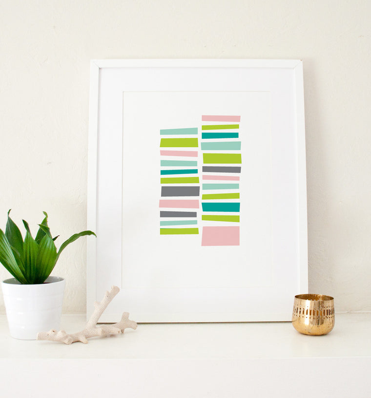 Staccato Art Print - Art Prints - Graphic Anthology - Little A & Co.