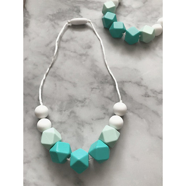 Mini Geo Silicone Teething Necklace - children accessories - Sweetie Pie Design Co. - Little A & Co.