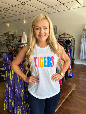 Rainbow Tigers Muscle Tank