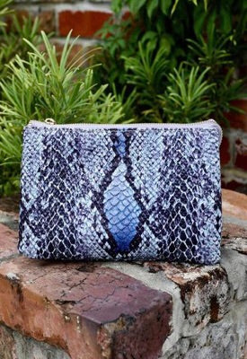 Liz Snake Blue Purse