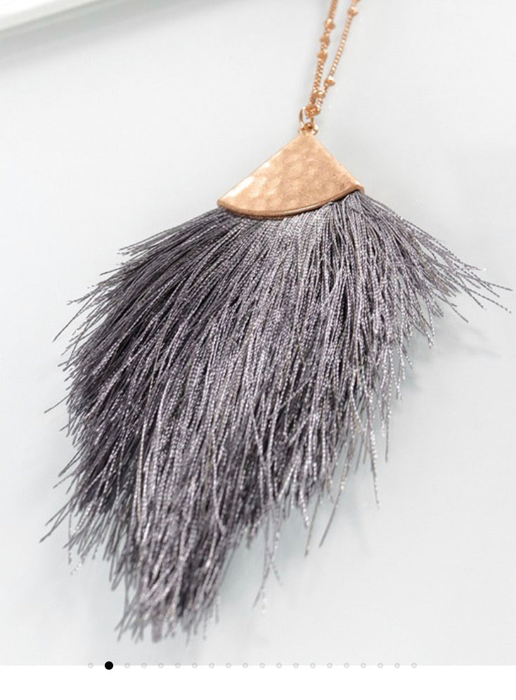 Fan Tassel Necklace