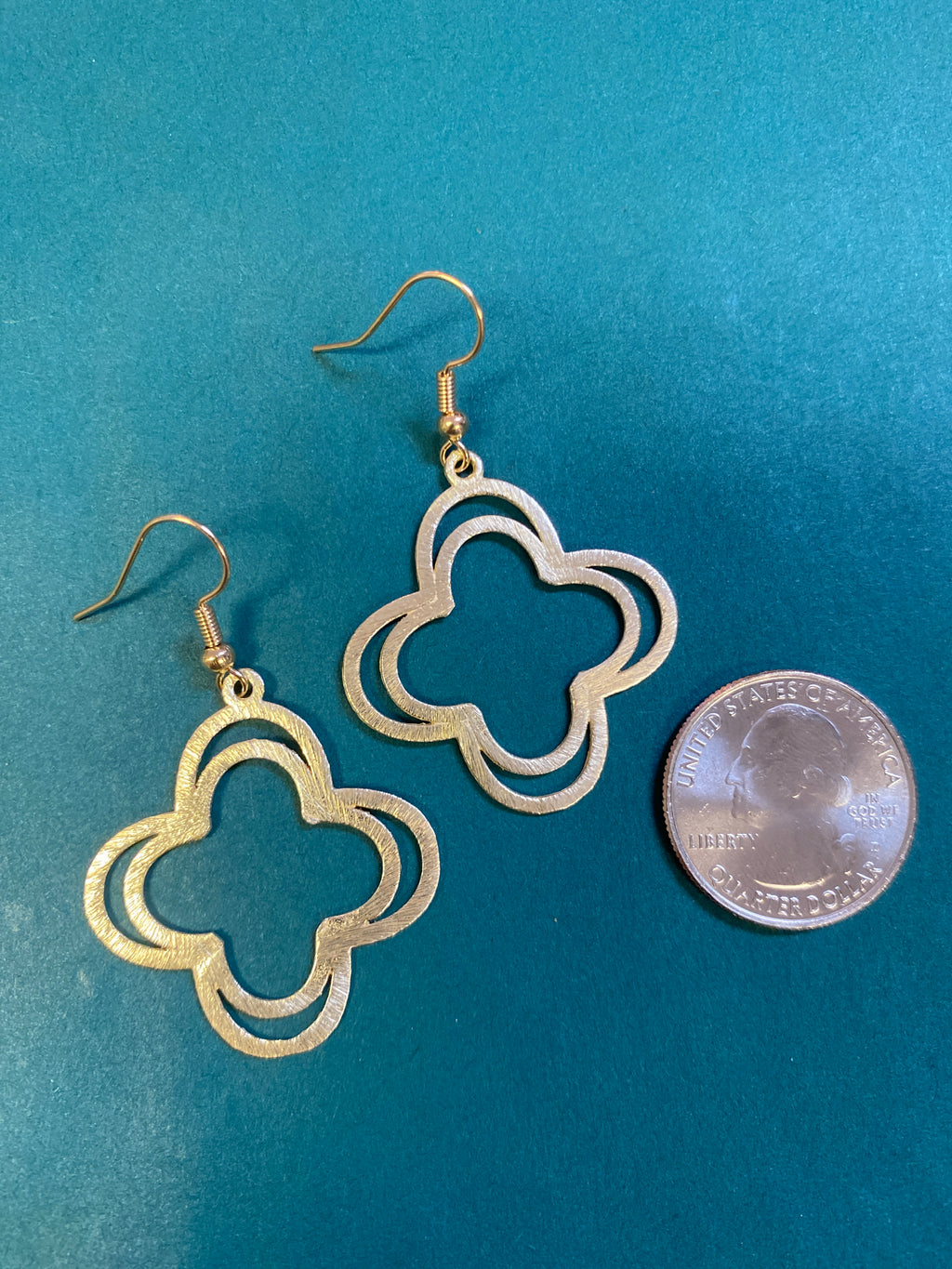 Double Small Quatrefoil Earrings