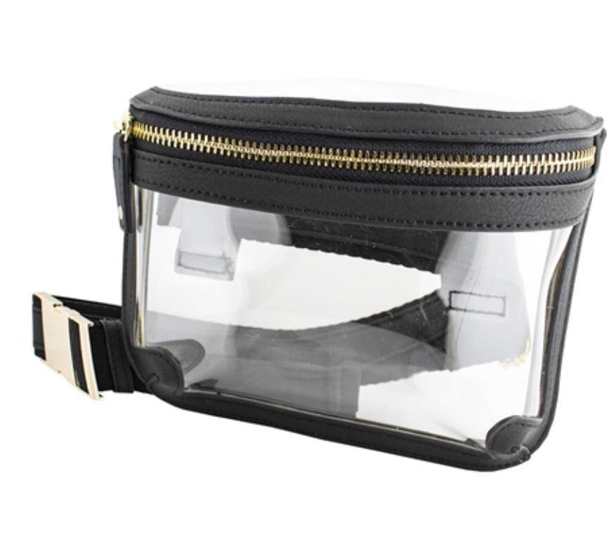 Clear Fanny Pack Black