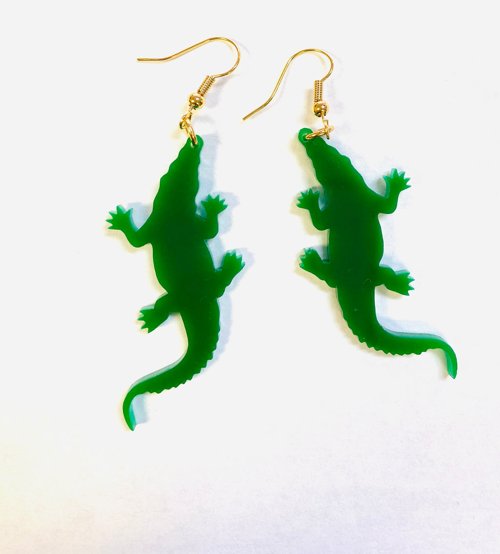Gator Earrings