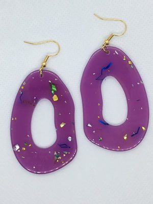 Purple Confetti Earrings