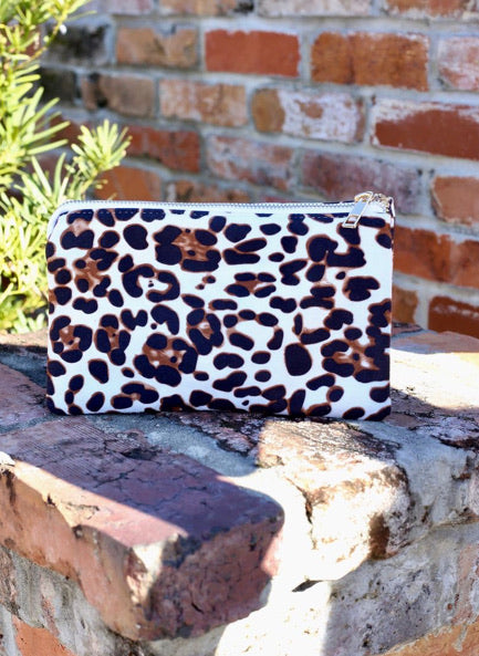 Liz White brown  leopard
