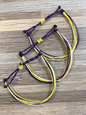 Second Grace Bracelets Purple and Gold