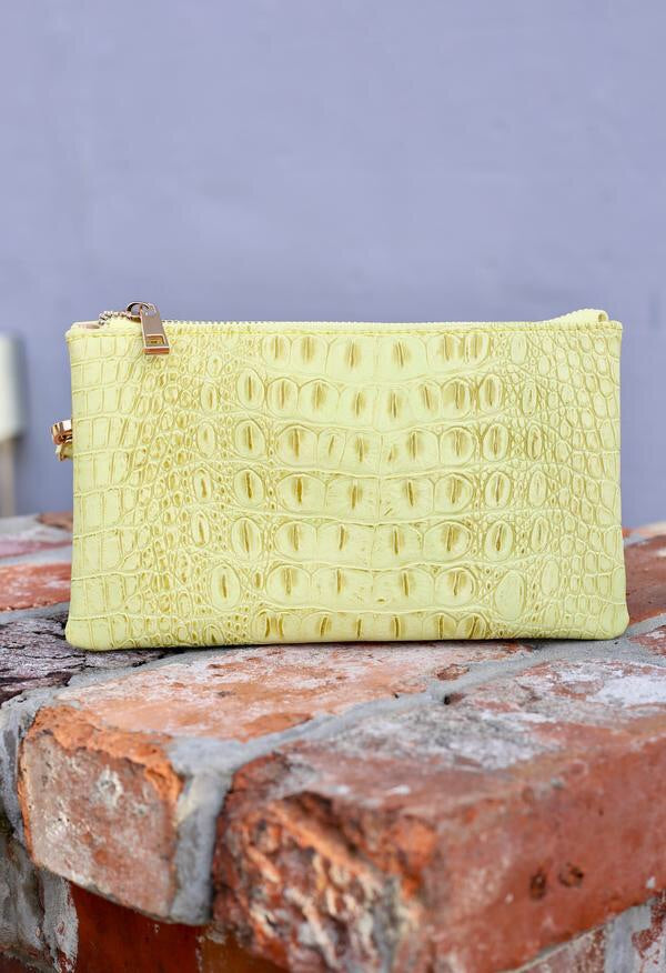 Liz Croc Lime Purse