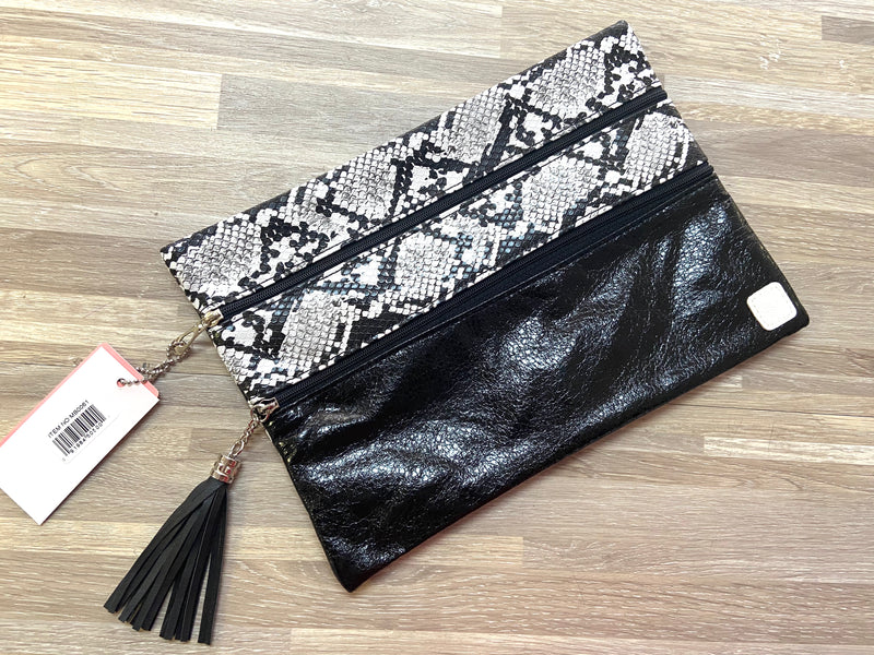 The Versi Bag Snakeskin Mix with Black