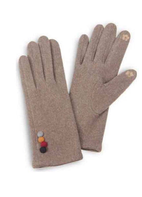 Buttons Smart Tip Gloves