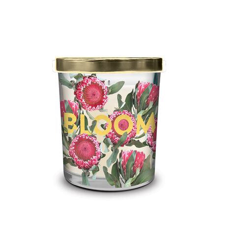BLOOM Mini Printed Glass Candle