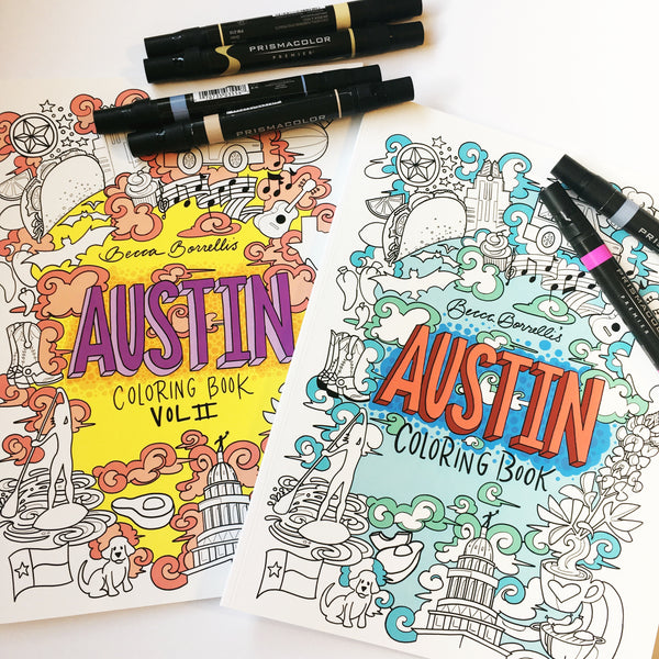 Second Edition Austin Coloring Books are Here!