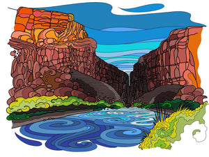 Santa Elena Canyon Print - Borrelli Illustrations