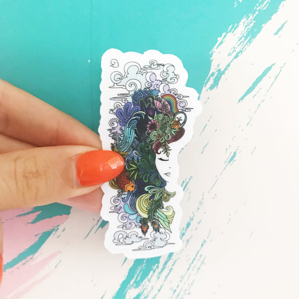Goddess Sticker - Borrelli Illustrations