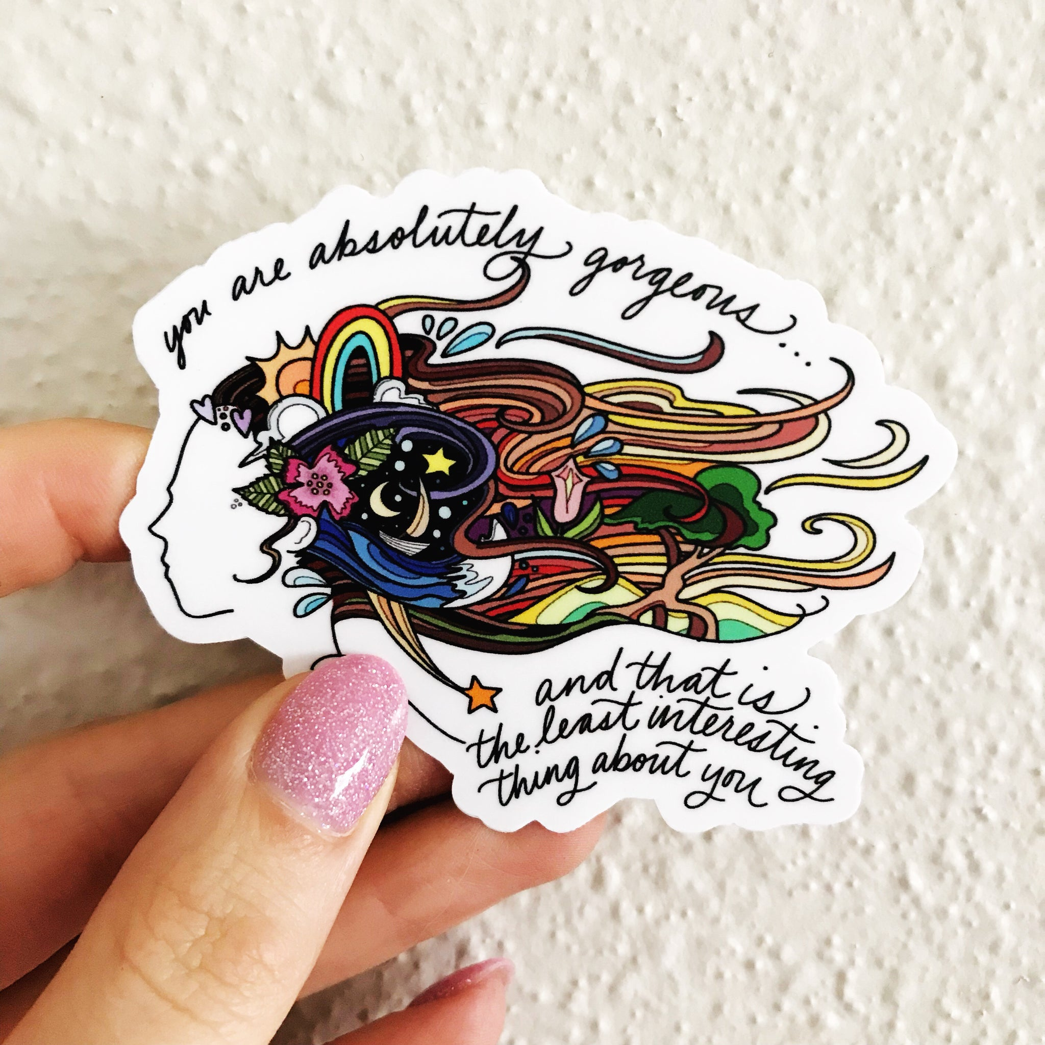Inner Beauty Sticker - Borrelli Illustrations