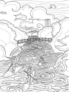 Lou Neff Paddleboard Coloring Page - Borrelli Illustrations