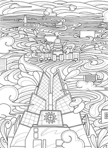 Frost Tower Coloring Page - Borrelli Illustrations