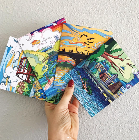 Austin Greeting Card Set - Borrelli Illustrations
