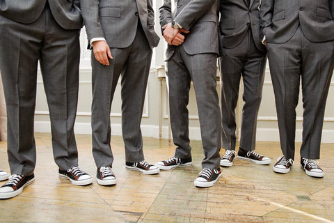 c8ed15d29544cb Mens Converse All Star White Classic Sneakers Shoes Personalized wedding  Groom