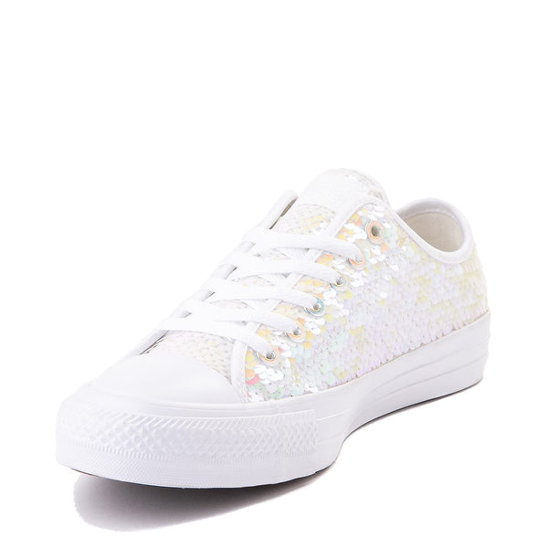 Womens Converse Chuck Taylor Low Iridescent Sequin Sparkle Sneaker Wedding Shoes