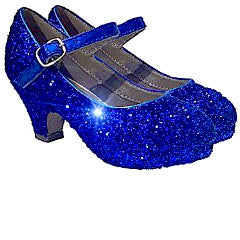 Toddler Girls Glitter MaryJane Heels Birthday Pageant Shoes Royal Blue