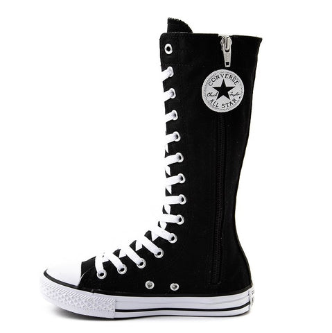 Girls Knee High Lace up bling Converse All Star Sneakers Kids Shoes Cheerleader