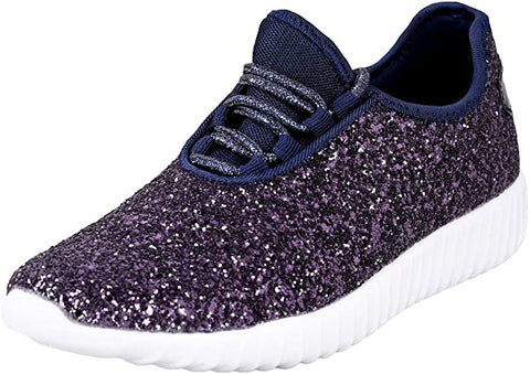 NAVY GLITTER TENNIS SHOE SNEAKERS LAST PAIR SALE  - SIZE Medium