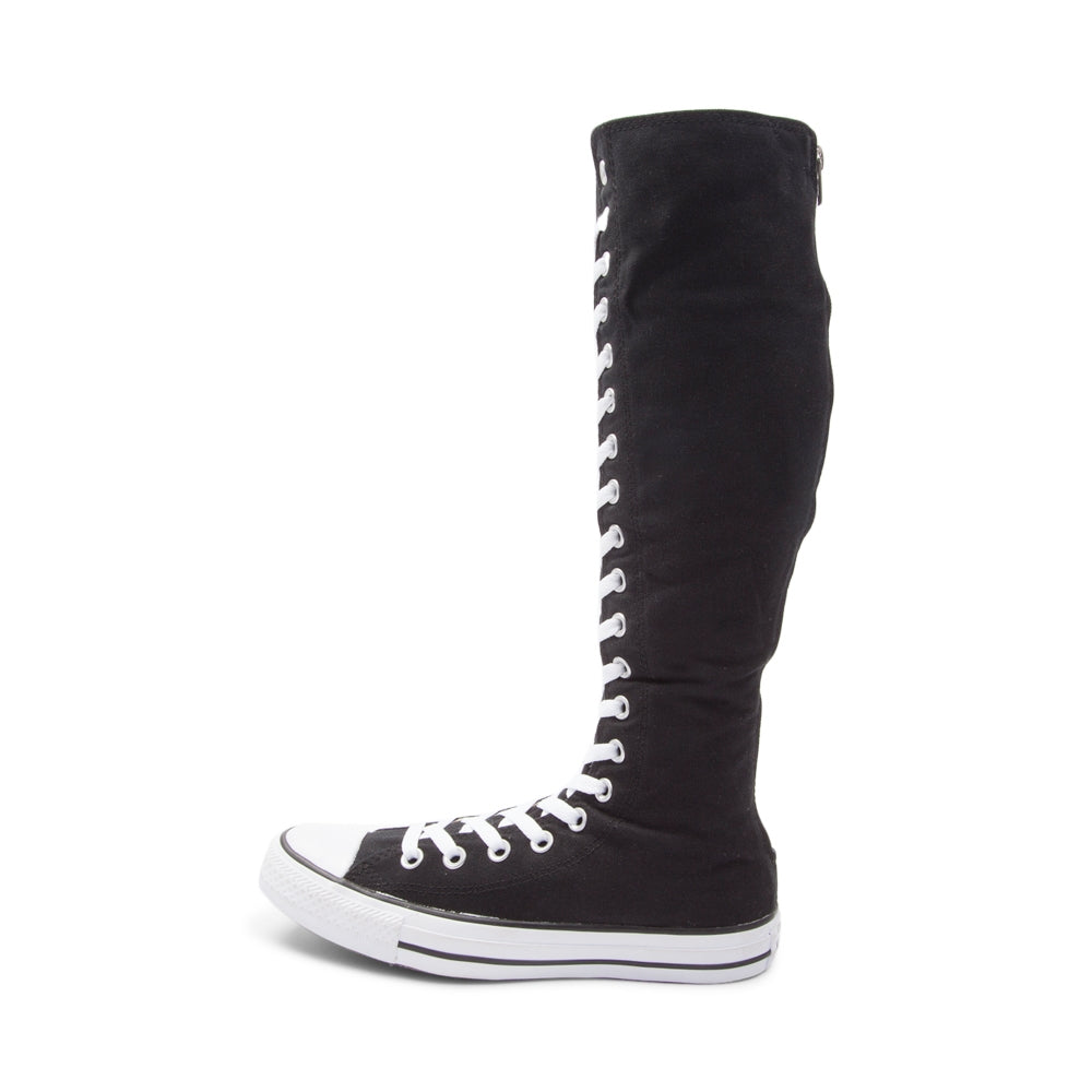 9ebe654cd69a ... Women s Knee High Lace up bling Converse All Star Sneakers Shoes  Cheerleader Wedding ...