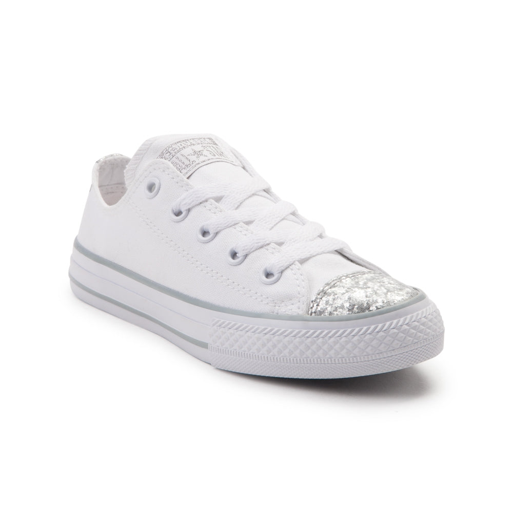 Womens Sparkly Silver Glitter Crystals Converse Shoes wedding