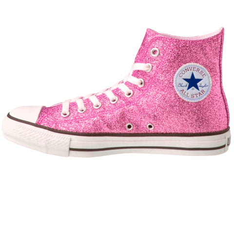 d6a00e488004 Women s Sparkly Glitter Converse All Stars Hi Top Pink prom bride sweet 16  - Glitter Shoe
