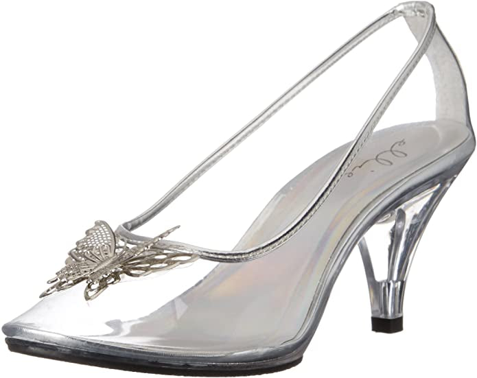 WOMENS CINDERELLA CLEAR GLASS SLIPPER LAST PAIR SALE SIZE 8