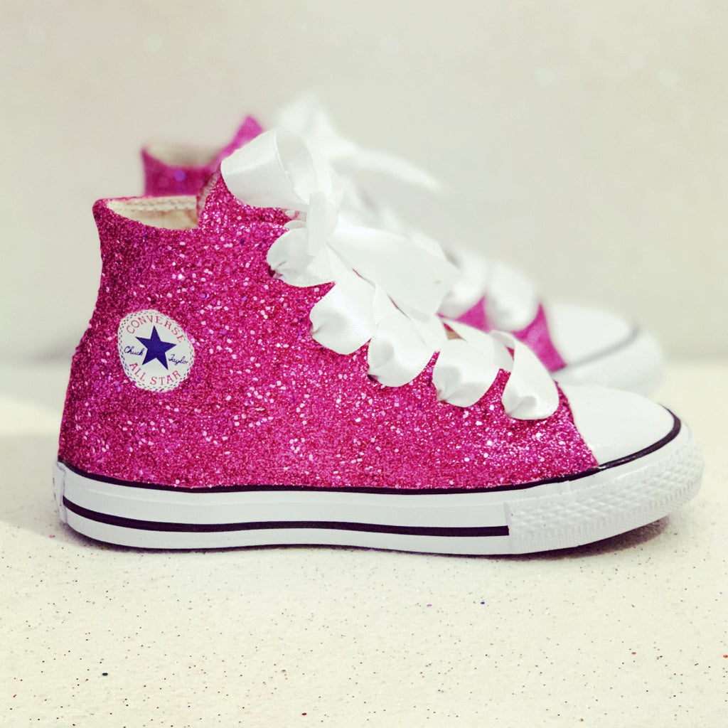1556146a4a1 ... Bling Crystals Flower Girls birthday. Toddler girls Kids Glitter  Converse All Stars birthday Shoes sneakers ...