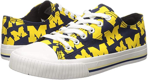 MICHIGAN WOLVERINE FOOTBALL TENNIS SHOE SNEAKERS LAST PAIR SALE - SIZE Large