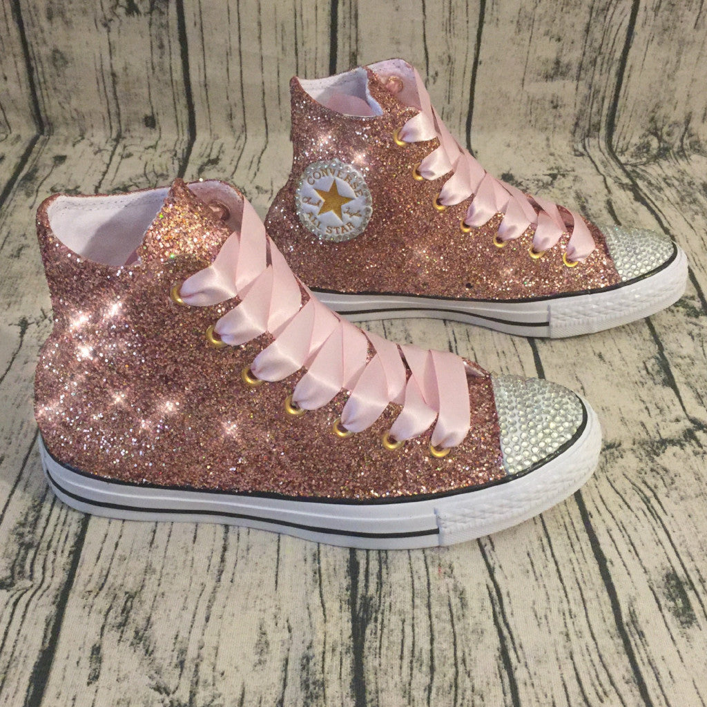 womens pink sparkly converse