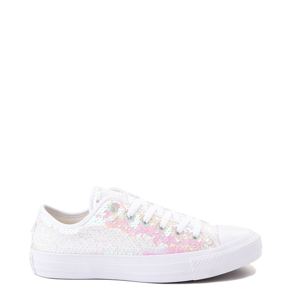Womens Converse Chuck Taylor Lo Iridescent Sequin Sparkle Sneaker Wedding Shoes - Glitter Shoe Co