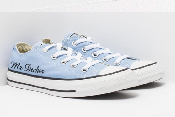 Mens Converse All Star Something Blue Sneakers Shoes Personalized wedding Groom