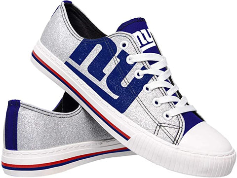 NEW YORK GIANTS GLITTER FOOTBALL TENNIS SHOE SNEAKERS LAST PAIR SALE - SIZE Large