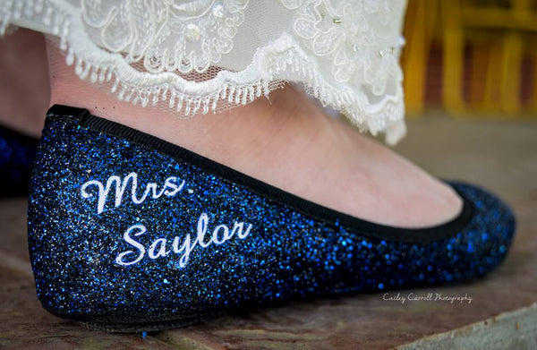 Wedding flats navy something blue shoes