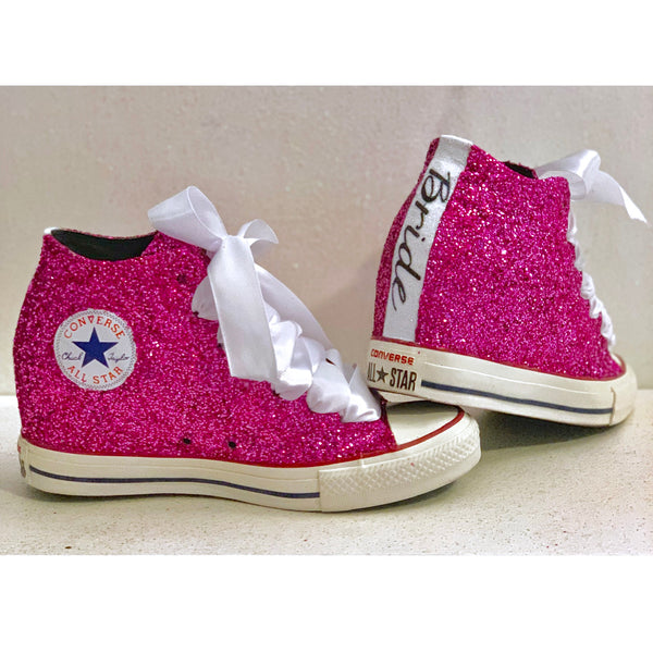 Womens Converse All Star Lux Hidden Wedge Sneaker Heels - Pink