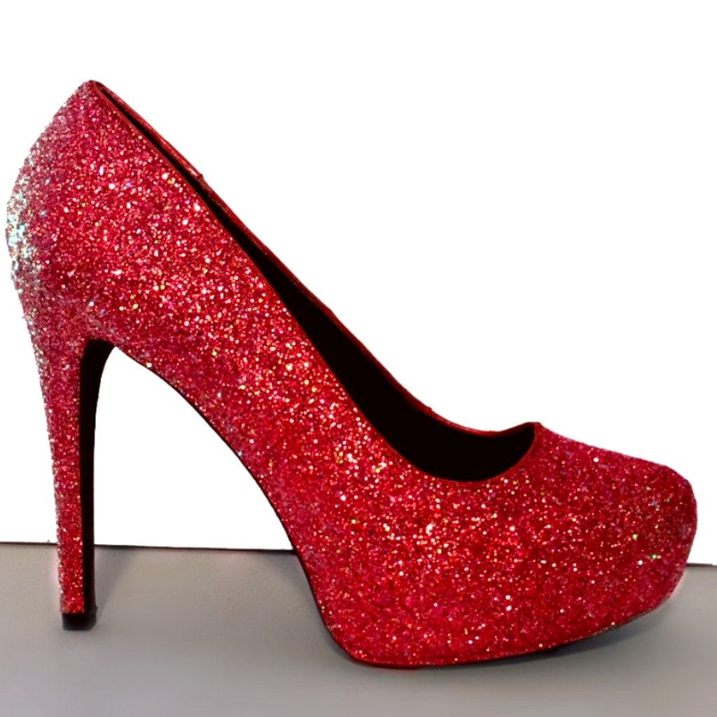 62d7004e25b ... Women s Sparkly Red Glitter high low Heels wedding bride shoes prom  bridal ...