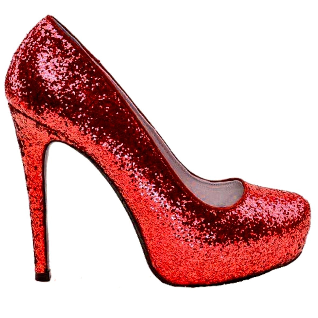 Women\'s Dorothy Red Glitter high low Heels wedding bride shoes ...