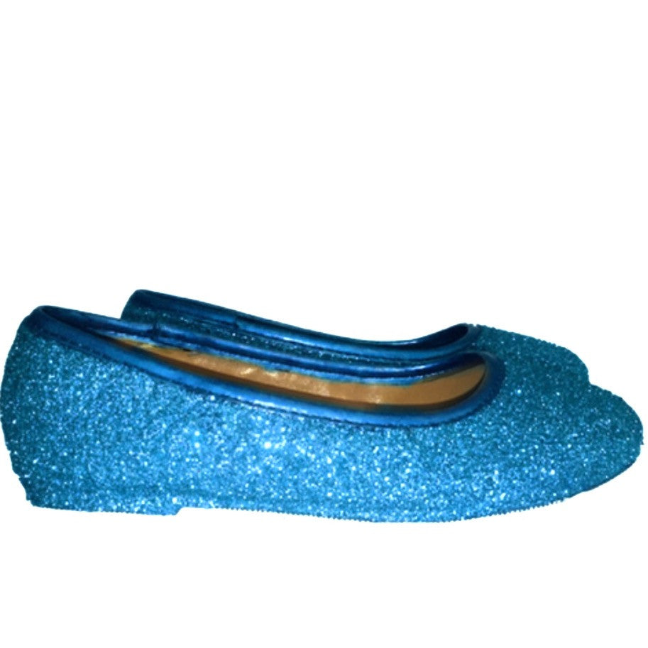 3541d0f95 ... Sparkly Glitter Ballet Flats Shoes Birthday Flower Baby Girl Toddler  Newborn Turquoise Blue