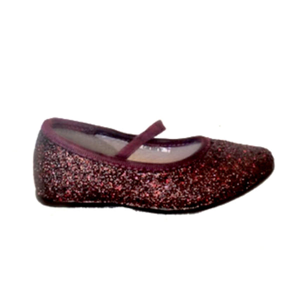 Sparkly Glitter Ballet Flats Shoes Flower Baby Girl