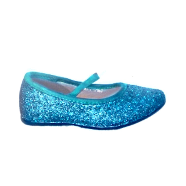Ladies Turquoise Flat Shoes