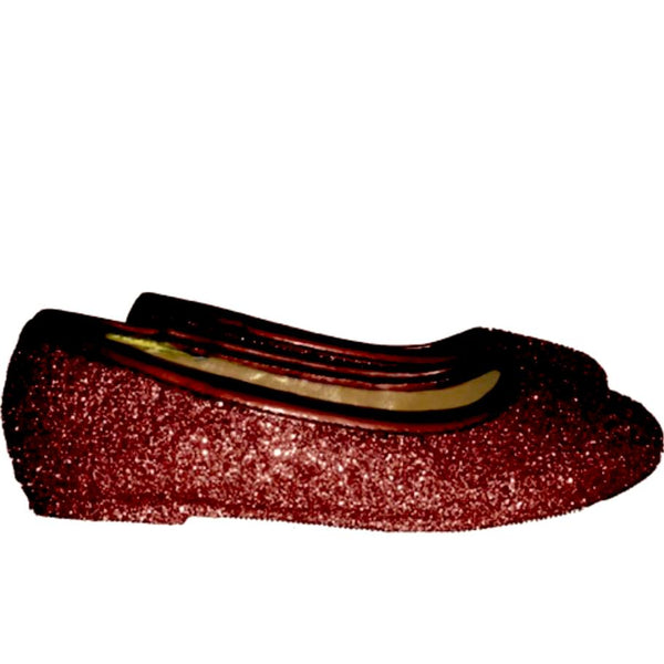 Sparkly Glitter Ballet Flats Shoes Birthday Flower Baby Girl Toddler Newborn burgundy