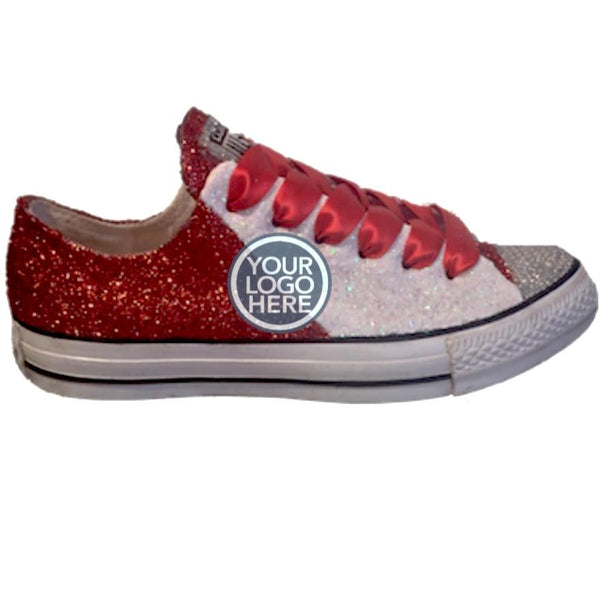 Women's Converse All Star Glitter Sneakers Team Spirit College Sports Shoes Orange White
