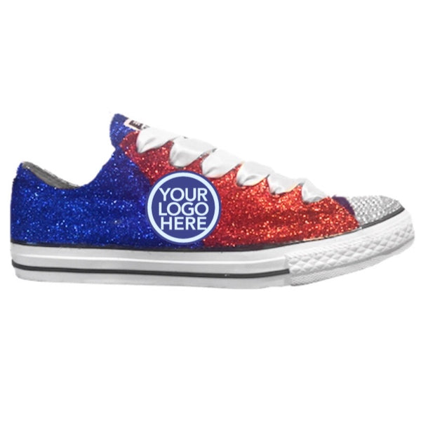 Women's Converse All Star Glitter Sneakers Team Spirit College Sports Shoes Blue White