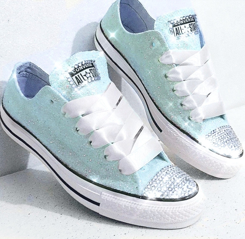Womens glitter converse all star sneakers light blue wedding shoes glitter  shoe jpg 1024x1001 Turquoise glitter e5328fcdf