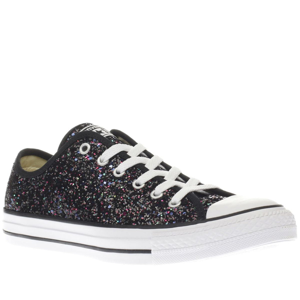 ... shoes Sneakers  Women s Sparkly Black Glitter Converse All Stars Bride  Wedding Gift Prom Graduation ... a3eb4e34e