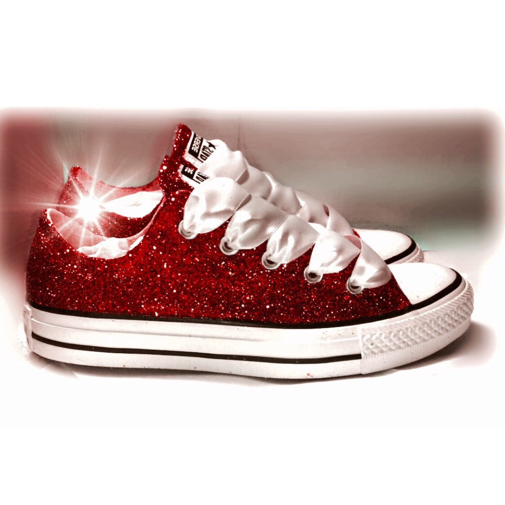... Sparkly Burgundy Maroon Red Glitter Crystals Converse All Star wedding  bride personalized shoes - Glitter Shoe ... fa2a3aa20